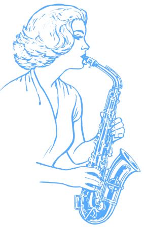 Woman playing Saxophone