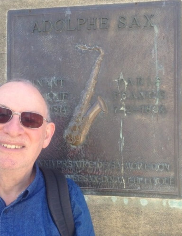 Steve at Adolphe Sax's memorial