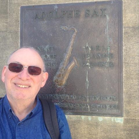 Steve at Adolphe Sax's memorial