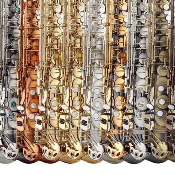 Range of Antigua finishes for saxophone